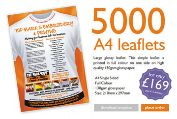 Full Colour Single Sided A4 Leaflets